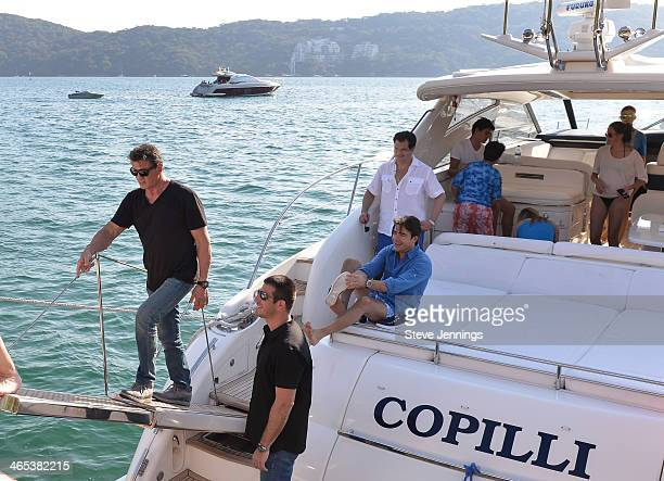 Sylvester Stallone returns from an afternoon boat ride in Acapulco Mexico The family was in Acapulco to attend opening night of the 9th Annual...
