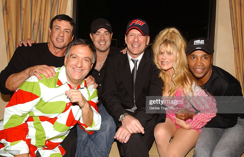 Sylvester Stallone Robert Earl Carson Daly Bruce Willis Charo and Sugar Ray Leonard