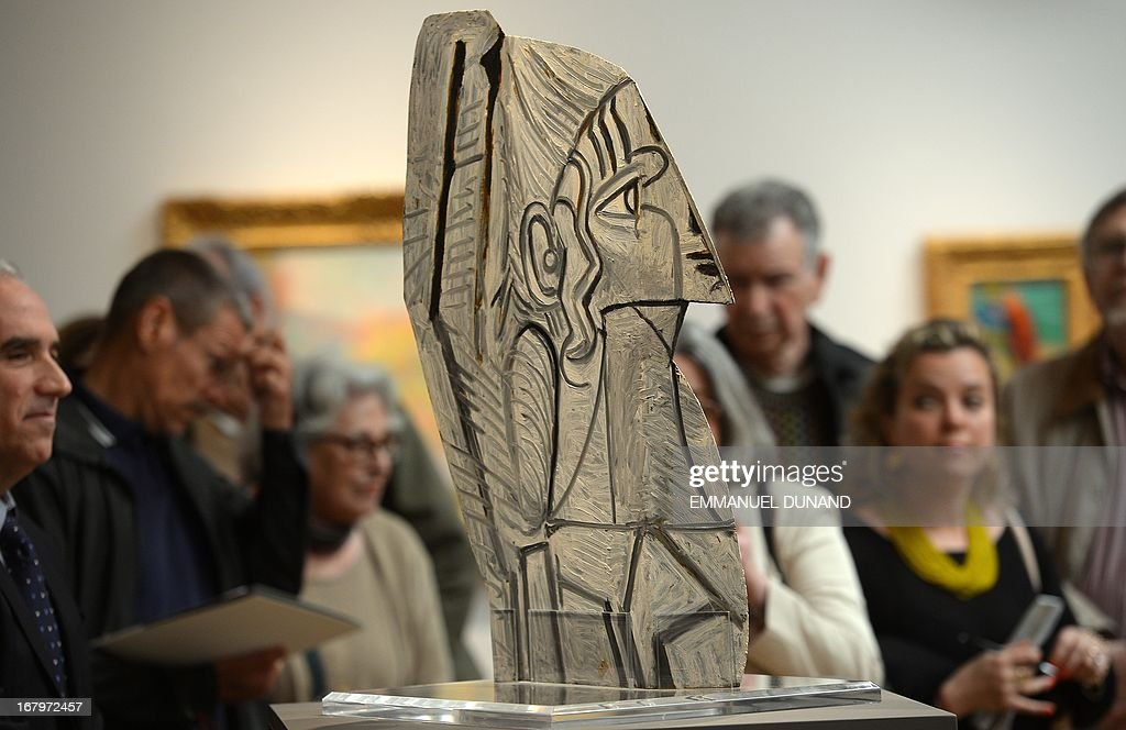 'Sylvette' by Pablo Picasso is on display during a preview of Sotheby's Impressionist and Modern Art sales in New York on May 3, 2013. Sotheby's is scheduled to hold its Impressionist and Modern Art sales May 7. AFP PHOTO/Emmanuel Dunand ++RESTRICTED
