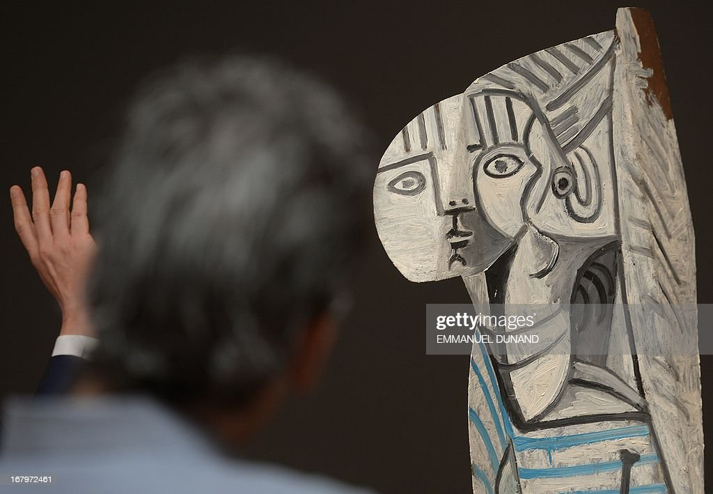 'Sylvette' by Pablo Picasso is on display during a preview of Sotheby's Impressionist and Modern Art sales in New York on May 3, 2013. Sotheby's is scheduled to hold its Impressionist and Modern Art sales May 7. AFP PHOTO/Emmanuel Dunand ++RESTRICTED TO EDITORIAL USE, MANDATORY MENTION OF THE ARTIST UPON PUBLICATION, TO ILLUSTRATE THE EVENT AS SPECIFIED IN THE CAPTION++