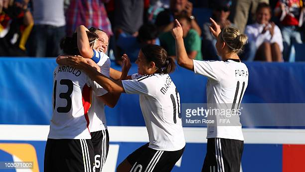 Sylvia Arnold of Germany celebrates after scoring the 2nd goal during the FIFA U20 Women's World Cup Quarter Final match between Germany and North...