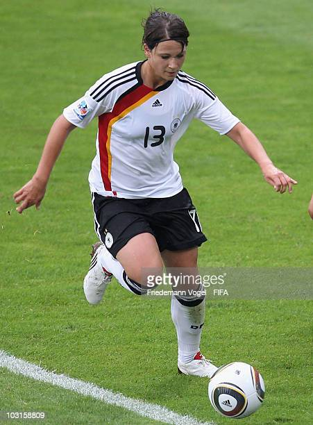 Sylvia Arnold of Germany runs with the ball during the FIFA U20 Women's World Cup Semi Final match between Germany and South Korea at the FIFA U20...
