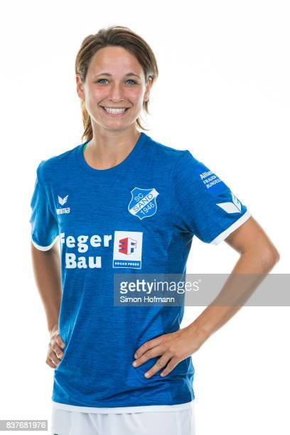Sylvia Arnold of SC Sand poses during the Allianz Frauen Bundesliga Club Tour on August 22 2017 in Willstatt Germany
