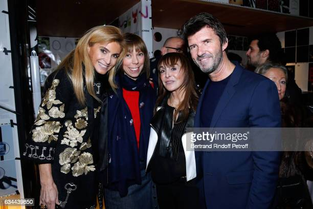 Sylvia de Montmort Mathilde Favier Babeth Djian and CEO of Mazarine Group PaulEmmanuel Reiffers attend the Launching of the Book 'Mocafico Numero' at...