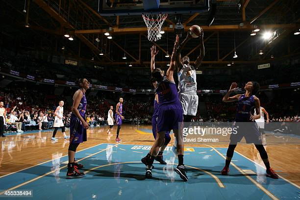 Sylvia Fowles of the Chicago Sky shoots against the Phoenix Mercury in Game Three of the 2014 WNBA Finals on September 12 2014 at the UIC Pavilion in...
