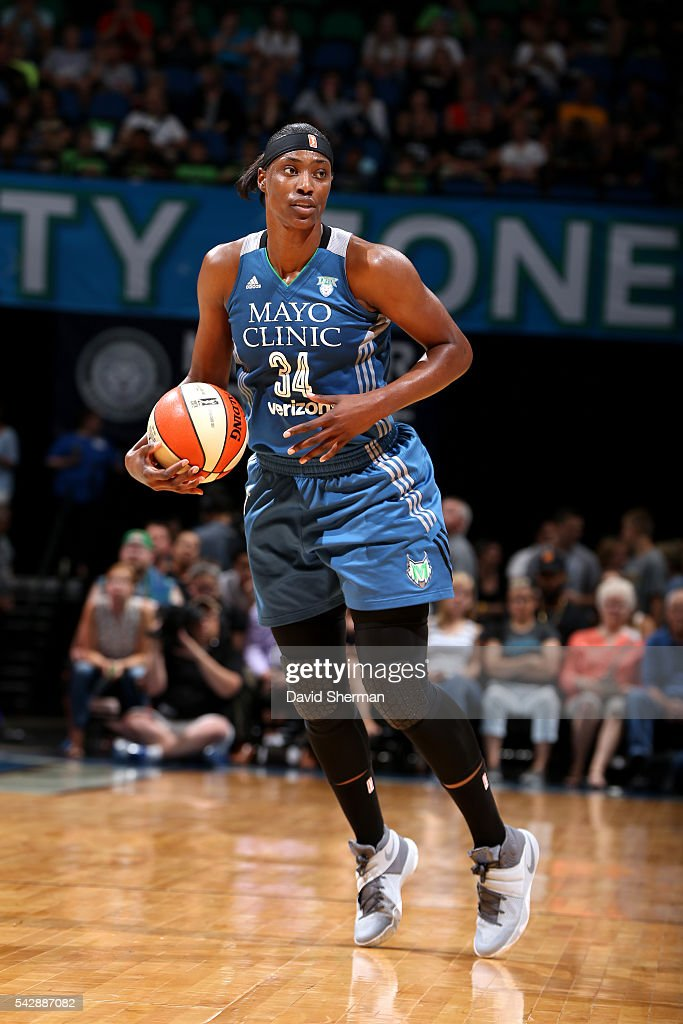 <a gi-track='captionPersonalityLinkClicked' href=/galleries/search?phrase=Sylvia+Fowles+-+Basketball+Player&family=editorial&specificpeople=707903 ng-click='$event.stopPropagation()'>Sylvia Fowles</a> #34 of the Minnesota Lynx handles the ball during the game against the Los Angeles Sparks during the WNBA game on June 24, 2016 at Target Center in Minneapolis, Minnesota.