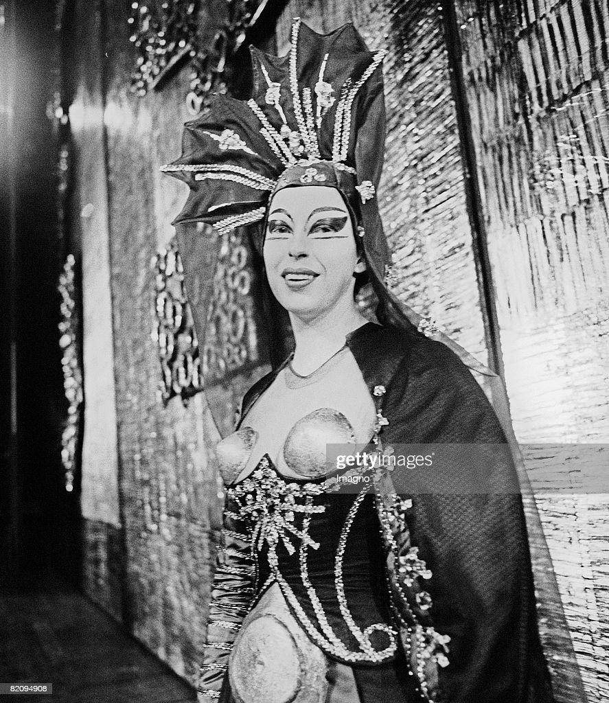 Sylvia Geszty as Queen of the Night in 'The Magic Flute' by Wolfgang Amadeus Mozart Salzburg Festival Photograph 1967 [Sylvia Geszty als Knigin der...