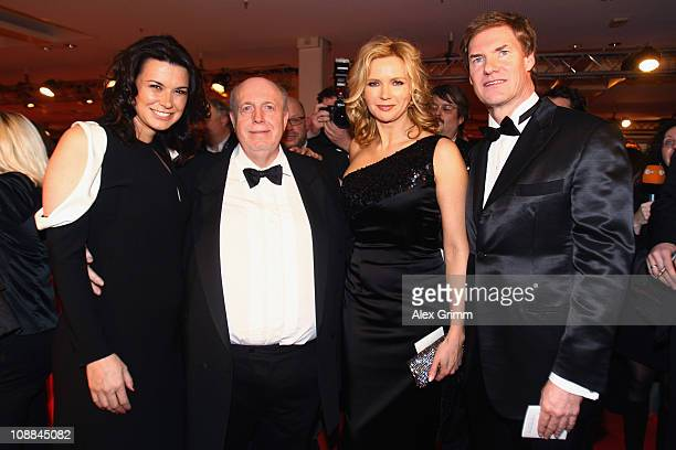Sylvia Haeusler Reiner Calmund Veronica Ferres and Carsten Maschmeyer arrive at the 20011 Sports Gala 'Ball des Sports' at the RheinMain Hall on...