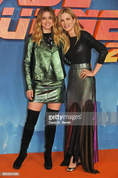 Sylvia Hoeks and Ana de Armas attend the 'Blade Runner 2049' photocall at The Corinthia Hotel on September 21 2017 in London England