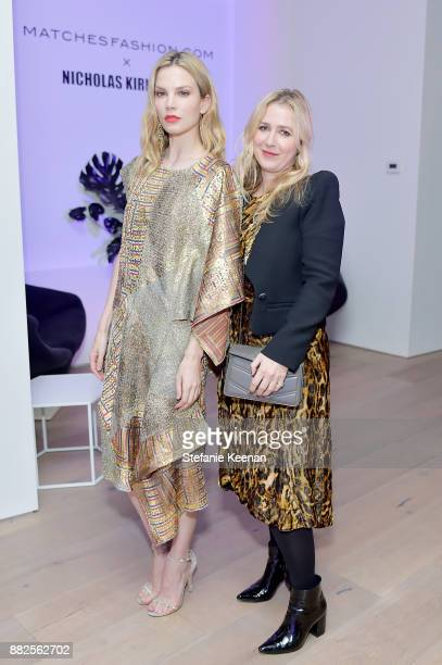 Sylvia Hoeks and Cher Coulter attend Nicholas Kirkwood and China Chow Host A Dinner For Matches Fashion on November 29 2017 in Los Angeles California