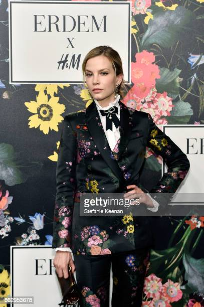 Sylvia Hoeks at HM x ERDEM Runway Show Party at The Ebell Club of Los Angeles on October 18 2017 in Los Angeles California