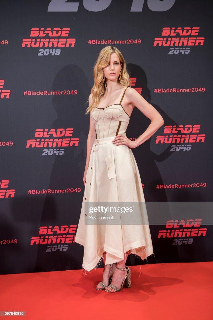 Sylvia Hoeks attends 'Blade Runner 2049' photocall at Arts Hotel on June 19, 2017 in Barcelona, Spain.