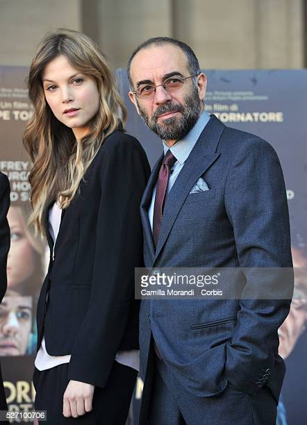 Sylvia Hoeks Giuseppe Tornatore during the photocall of the film The Best Offer