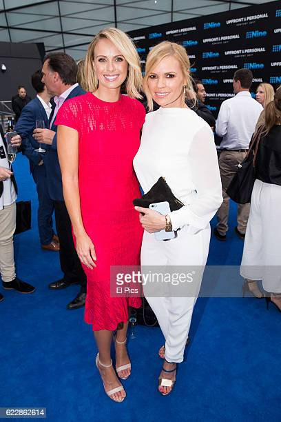 Sylvia Jeffreys and Sonia Kruger poses during the Channel Nine Up fronts at The Star on November 8 2016 in Sydney Australia
