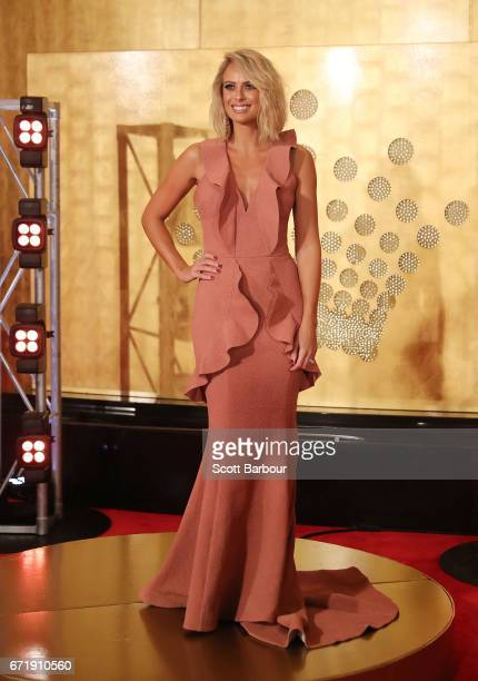 Sylvia Jeffreys arrives at the 59th Annual Logie Awards at Crown Palladium on April 23 2017 in Melbourne Australia