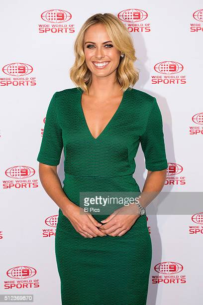 Sylvia Jeffreys attends the Channel Nines 2016 NRL Launch at The Greens North Sydney on February 26 2016 in Sydney Australia