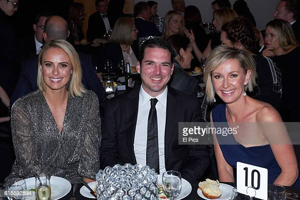 Sylvia Jeffreys Peter Stefanovic and Deborah Knight attends the 2016 Andrew Olle Media Lecture on October 14 2016 in Sydney Australia