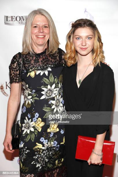 Sylvia Juliet Bell and Isabella BlakeThomas attend the premiere screening of 'Kepler's Dream' at Regency Plant 16 on November 30 2017 in Van Nuys...