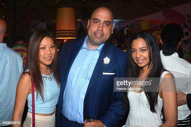 Sylvia Lee Alexander Breton and Melissa Boissiere attend the Lower East Studios summer party at The Lucky Bee Hosted by Steve Caputo Rupert Noffs and...