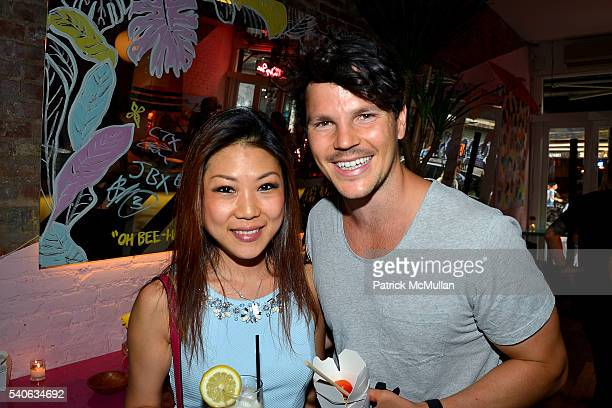 Sylvia Lee and Dan Churchill attend the Lower East Studios summer party at The Lucky Bee Hosted by Steve Caputo Rupert Noffs and Chef Matty Bennett...