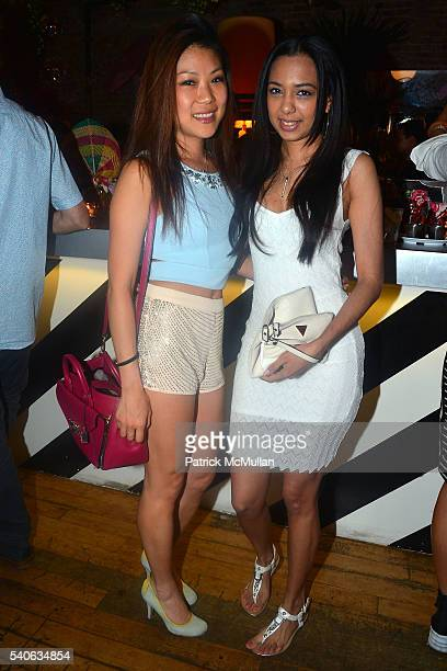 Sylvia Lee and Melissa Boissiere attend the Lower East Studios summer party at The Lucky Bee Hosted by Steve Caputo Rupert Noffs and Chef Matty...