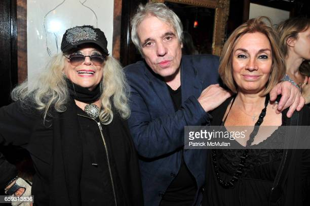 Sylvia Miles Abel Ferrara and Geraldine Smith attend Screening of CHELSEA ON THE ROCKS at The Jane Hotel on September 21 2009 in New York City