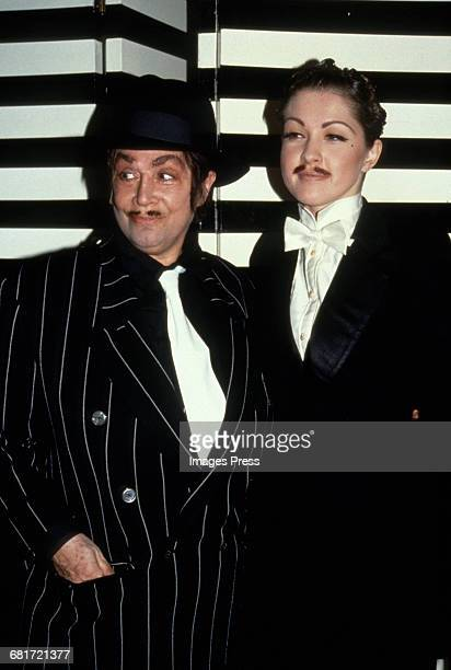 Sylvia Miles and Cyndi Lauper attend Susanne Bartsch's Love Ball 2 circa 1991 in New York City