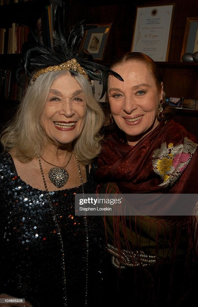 Sylvia Miles and Rita Gam during Official 2003 Academy of Motion Picture Arts and Sciences Oscar Night Party at Le Cirque 2000 at Le Cirque 2000 in New York, NY, United States.