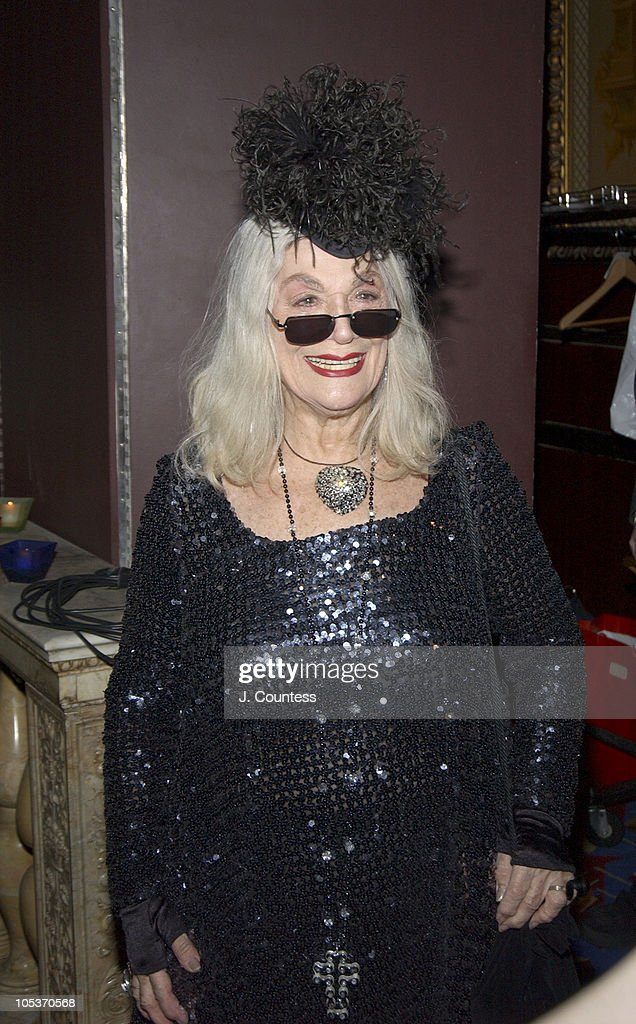 <a gi-track='captionPersonalityLinkClicked' href=/galleries/search?phrase=Sylvia+Miles&family=editorial&specificpeople=206462 ng-click='$event.stopPropagation()'>Sylvia Miles</a> during The Academy of Motion Picture Arts & Sciences 2004 Oscar Night Party at Le Cirque 2000 in New York City, United States.