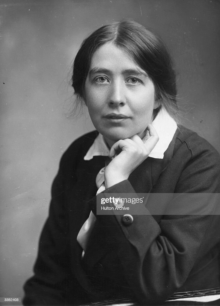 Sylvia Pankhurst (1882 - 1960), daughter of the English suffragette Emmeline Pankhurst (1858 - 1928), and founder of the Women's Social and Political Union (WSPU). Sylvia herself was an irrepressible campaigner, she wrote extensively, not only for women's suffrage, but also for Ethiopian independence, socialism and international and domestic issues.