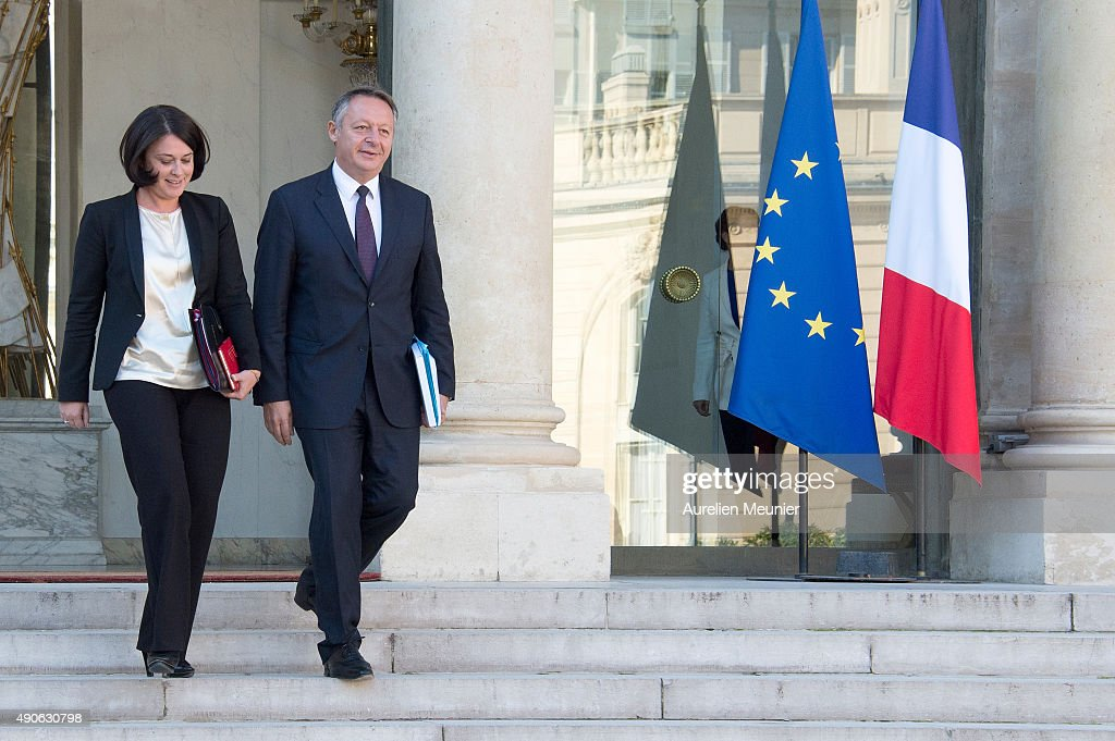 <a gi-track='captionPersonalityLinkClicked' href=/galleries/search?phrase=Sylvia+Pinel&family=editorial&specificpeople=9331820 ng-click='$event.stopPropagation()'>Sylvia Pinel</a> (L), French Minister of Housing and Thierry Braillard (R), French Secretary of State for Sports leave the Elysee Palace after the weekly cabinet meeting on September 30, 2015 in Paris, France.