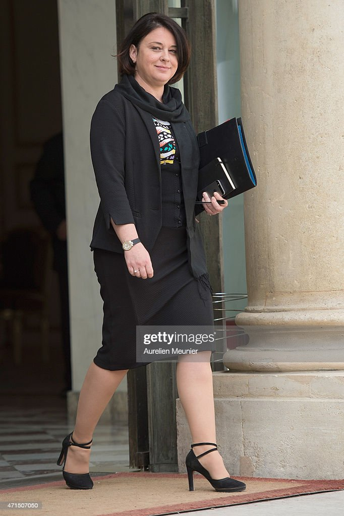 <a gi-track='captionPersonalityLinkClicked' href=/galleries/search?phrase=Sylvia+Pinel&family=editorial&specificpeople=9331820 ng-click='$event.stopPropagation()'>Sylvia Pinel</a> French Minister of Housing leaves the Elysee Palace after the weekly cabinet meeting on April 29, 2015 in Paris, France.