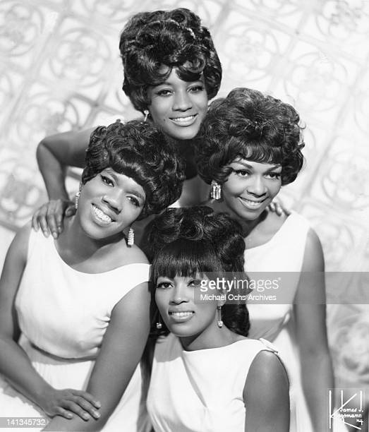 Sylvia ShemwelL Cissy Houston Myrna Smith and Estelle Brown of the vocal group 'The Sweet Inspirations' pose for a portrait in circa 1967 in New York...