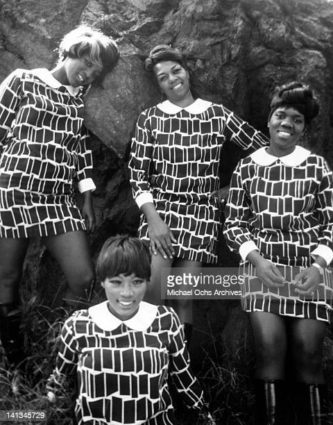 Sylvia Shemwell Cssy Houston Eselle Brown and Myrna Smith of the vocal group 'The Sweet Inspirations' pose for a portrait in circa 1967 in New York...