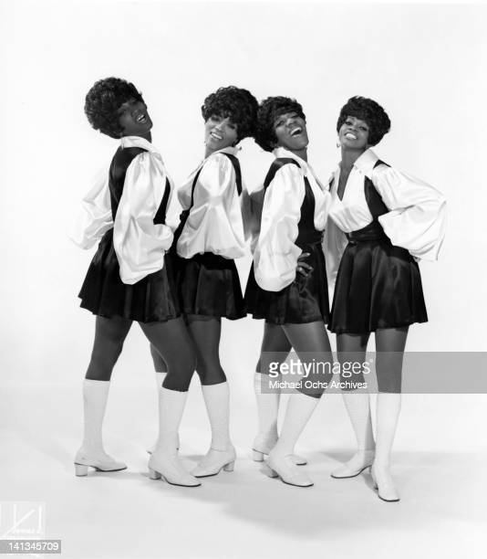 Sylvia Shemwell Myrna Smith Estelle Brown and Cissy Houston of the vocal group 'The Sweet Inspirations' pose for a portrait in circa 1967 in New York...