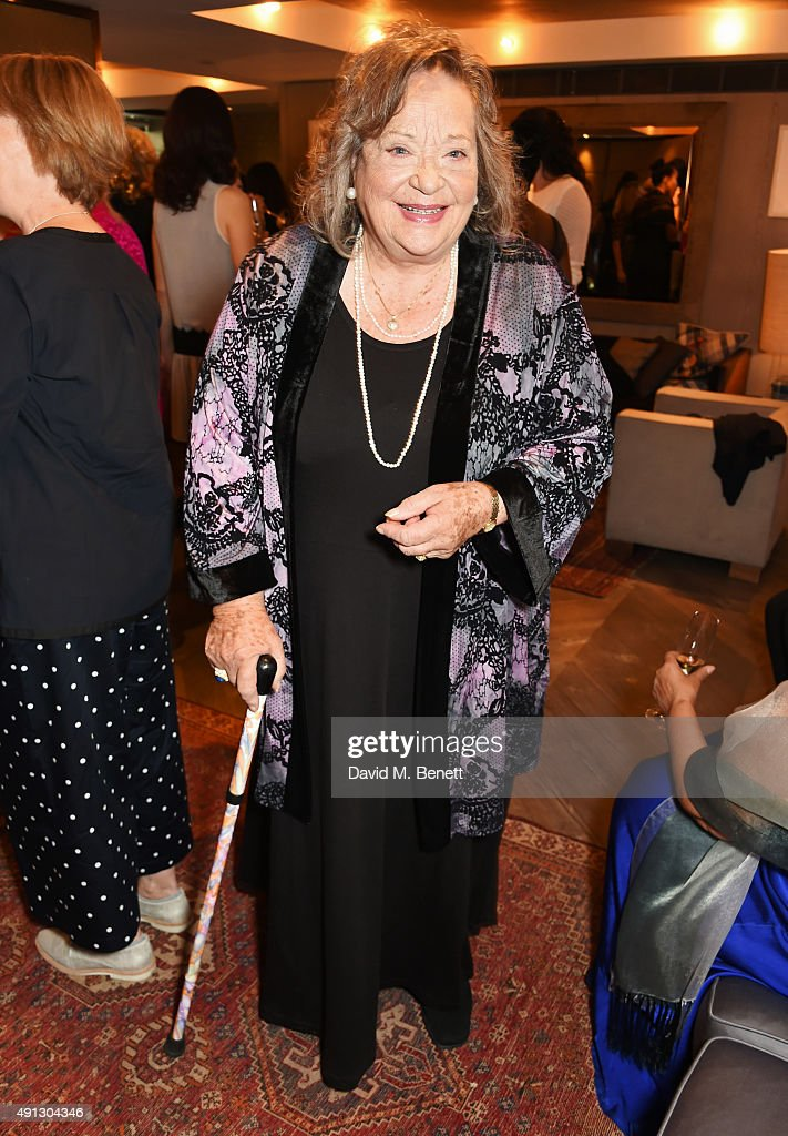 <a gi-track='captionPersonalityLinkClicked' href=/galleries/search?phrase=Sylvia+Syms&family=editorial&specificpeople=235776 ng-click='$event.stopPropagation()'>Sylvia Syms</a> attends the Voice Of A Woman Awards at the Belgraves Hotel on October 4, 2015 in London, England.