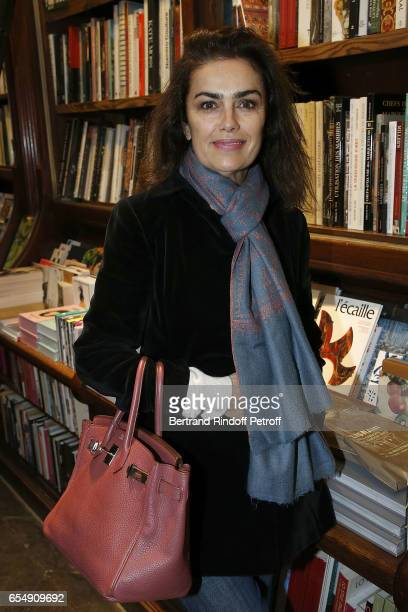 Sylvia Toledano attends Bertrand Matteoli Signing Book 'Bien Dans Sa Peau' at Librairie Galignali on March 18 2017 in Paris France