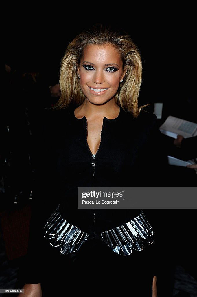 Sylvia Van Der Vaart attends the front row at the Viktor&Rolf Fall/Winter 2013 Ready-to-Wear show as part of Paris Fashion Week on March 2, 2013 in Paris, France.