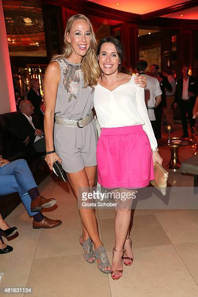 Sylvia Walker and Birgit Noessing during the Eclat Dore summer party at Hotel Vier Jahreszeiten on July 22 2015 in Munich Germany