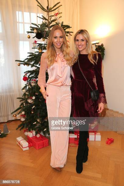Sylvia Walker and Fashion designer Sandra Tomic during the Happy Nikolaus event hosted by NICKI'Scom and Madame at Prisco Haus on December 5 2017 in...