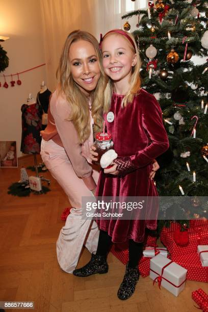 Sylvia Walker and her daughter Mara during the Happy Nikolaus event hosted by NICKI'Scom and Madame at Prisco Haus on December 5 2017 in Munich...