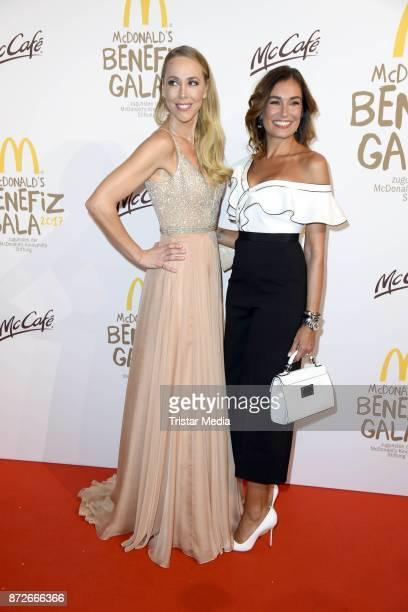 Sylvia Walker and Jana Ina Zarrella attend the McDonald's charity gala at Hotel Bayerischer Hof on November 10 2017 in Munich Germany