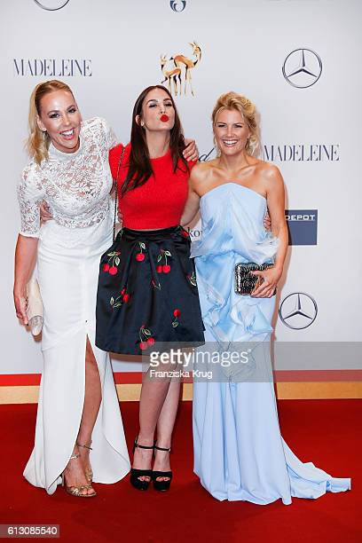 Sylvia Walker Sila Sahin and Jennifer Knaeble attend the Tribute To Bambi at Station on October 6 2016 in Berlin Germany