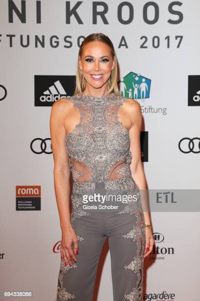 Sylvia Walker wearing a jumpsuit by Bibi Bachtadze during the Toni Kroos charity gala benefit to the Toni Kroos Foundation at 'The Palladium' on June...