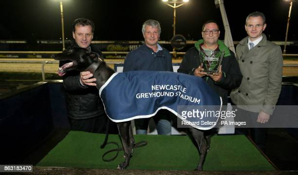 Sylvias Chloe with connections R A Baker and Mr R A Baker after winning the Newcastle BAGS race eleven during the William Hill All England Cup...
