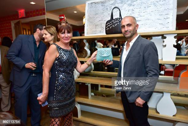 Sylvie Beker and Artist Bill Claps attend the launch of The Collector Geneva's Sophie Bonvin Code Collection in Collaboration with artist Bill Claps...