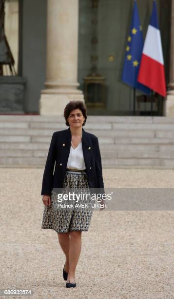 Sylvie Goulard France's minister of defence arrives for a cabinet meeting at the Elysée Palace in Paris France on May 18 2017