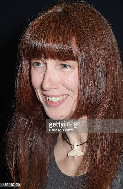 Sylvie Guillem winner of the Special Award poses in the winners room at The Olivier Awards at The Royal Opera House on April 12 2015 in London England