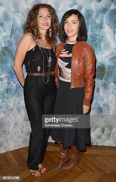 Sylvie Hoarau and Aurelie Saada from Brigitte attend Alexis Mabille show as part of Paris Fashion Week Haute Couture Fall/Winter 20142015 on July 7...