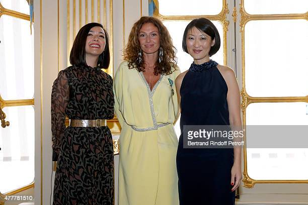 Sylvie Hoarau Aurelie Saada and Fleur Pellerin attend French minister of Culture and Communication Fleur Pellerin gives Medal of 'Knight of Arts and...